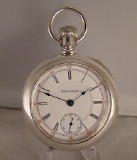 "116 YEARS OLD HAMILTON ""926"" SOLID COIN SILVER OPEN FACE SIZE 18s POCKET WATCH"