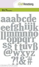 Craft Emotions Cutting Dies - Large Lowercase Alphabet - 0502 - New Out