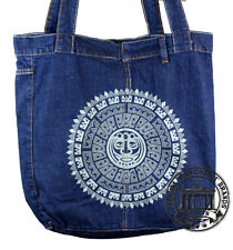 S19. MANDALA BEAR Jeans Denim Shopping Bag Marionelli Tasche Stofftasche