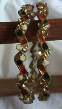 Set Of 2 Ladies/ Girls Multi Coloured Bollywood Sari Indian Bangles/ Bracelets