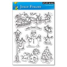 PENNY BLACK RUBBER STAMPS CLEAR JOLLY FOLLIES CHRISTMAS