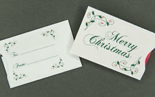 Holiday Gift Card Sleeves - Merry Christmas - 100 count