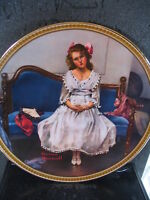 Knowles Norman Rockwell  WAITING AT THE DANCE  1993  Ltd Ed Plate