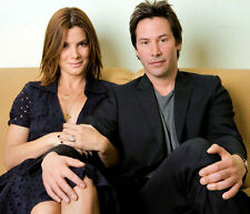 Sandra Bullock and Keanu Reeves UNSIGNED photo - E201 - Stars of Speed