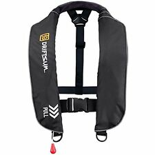 Driftsun Manual Inflated Auto Inflatable Life Jacket Life Vest (PFD) Adult Black