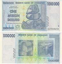 Zimbabwe 1 Million Dollars 2008 P- UNC Hyper Inflation Banknote - Ox