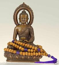 Gioielli Collo AMETISTA mala Nepal Buddha (legno di Sandalo Duplicato) Nepal Rosario 7d