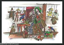 Emanuele Luzzati : I Mestieri, La bambolaia - cartolina formato cm 10,5 x 15