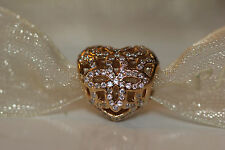 AUTHENTIC NEW PANDORA 14k GOLD 750837 LOVE AND APPRECIATION W/ LEATHER BOX $375