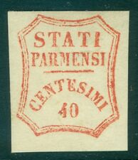 ITALY STATES : PARMA. 1859. Sass #17 Mint. Fresh color, large margins. Cat €1000