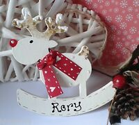 Personalised Reindeer Christmas Tree Decoration 1st Xmas/name Bauble