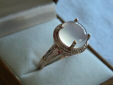 Clogau 9ct Rose Welsh Gold White Chalcedonay Cocktail Ring size P RRP £1,000.00