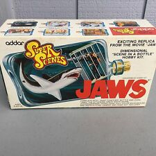 Addar super scenes jaws model kit unused in box from 1975 original owner
