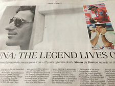 TELEGRAPH Time 13/06/15 ARYTON SENNA TAG HEUER 21 YEARS ON