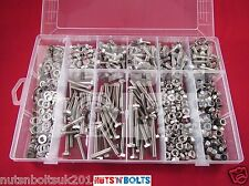 M6 Stainless Assortment of Nuts And Bolts Setscrews and washers Assorted Box kit