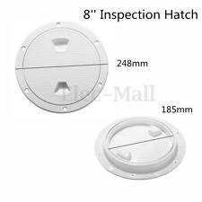 8'' ABS White Round Marine Screw Deck Plate Inspection Hatch Out Boat Access RV