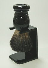 Hans BAIER rasierpinsel tetto capelli 20 mm con supporto shaving brush GERMANY