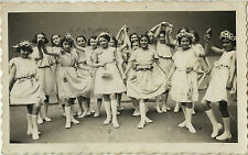 PHOTO ANCIENNE - VINTAGE SNAPSHOT - FILLE DANSEUSE DANSE COSTUME MODE - DANCE