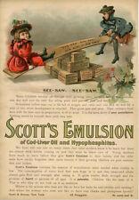 Scott's Emulsion  -  Medical  -  Medicine  - Scott & Bowne - New York -  1895
