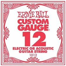 Ernie Ball .12 Custom Gauge Guitar Single Strings Electric or Acoustic Pack 6