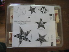 Stampin Up! In The Stars May All Your Dreams Come True Rubber Stamps Set of 8