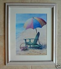 Disney Boardwalk/Beach Club Inn & Villas Beach Chair & Umbrella Framed Art Prop