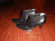 MAX MARA BLACK LEATHER ANKLE BOOTIES SHOE BOOTS   LADIES  SZ 39 / 8M