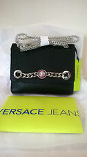 Versace Jeans black eco leather hand/shoulder bag logo/chain detail BNWT