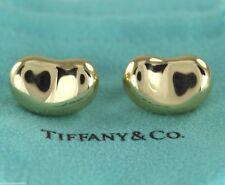 $1,800 Tiffany Elsa Peretti 18K Yellow Gold 20mm Large Bean Omega Back Earrings