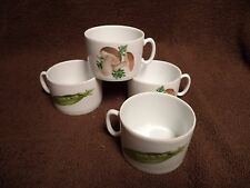 Philippe Deshoulieres Lourioux Mushroom Cups  Lot of 4