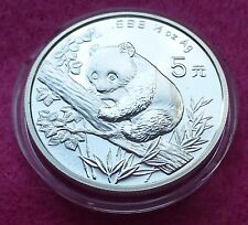 1995 China Panda Plata 1/2 OZ 5 yuanes BU moneda