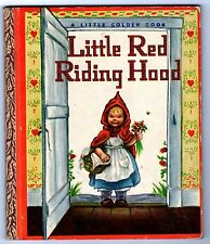 "LITTLE RED RIDING HOOD ~ scarce 1st ""A"" ed. Little Golden Book #42, wine, VG"