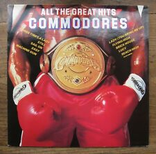 COMMODORES - All the great hits - EX/EX+ promo Motown LP  1983