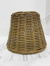 1 Pottery Barn Woven Wicker Kitchen Bath Track Light Lamp sconce SHADE nautical