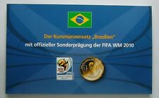 Brazil coin set (Various years) plus Official FIFA World Cup 2010 Medal