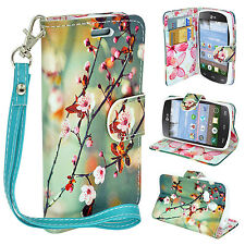 Design Leather Credit Card Wallet Case Flip Pouch For LG Sunrise L15G Lucky L16C