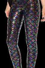 NEW Black Milk Museum LIMITED Medium Mermaid Holographic Leggings halloween fun
