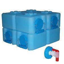 Long Term Water Storage Containers Survival  Emergency Prepper Bonus Spigot 4Pk
