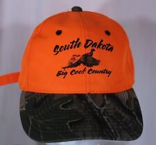 South Dakota Big Cock Country Orange Camouflage Pheasant Adjustable Hat Hunting