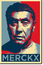 EDDY MERCKX art photo print (OBAMA HOPE Parodie) Poster Cyclisme Cadeau