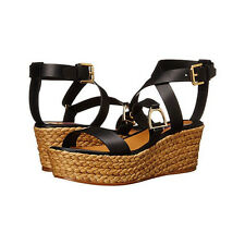 Ralph Lauren Collection Logan Espadrille Platform Wedge Sandal US 6M 36 NIB $495