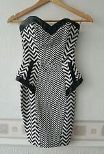 Lipsy Bandeau Peplum dress Uk6 Rrp65 NWOT