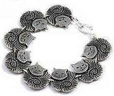 New St Justin Pewter Fat Cat Bracelet in Gift Box TB98