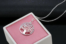 925 Sterling Silver Hollow out Wishing Tree Pendant The Tree of Life Necklace 1p