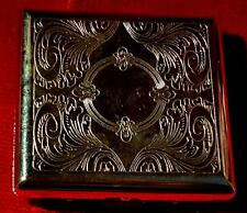 NEW NOT BOXED METAL SILVER COLOURED CIGARETTE CASE WITH DETAILING