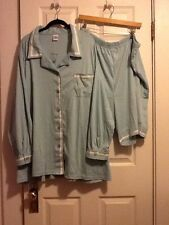 Junonia Plus Size 4X Blue Cotton/Poly Pajama Set, NWT, Long Sleeve Top, Shorts