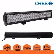 """23"""" 144W CREE LED WORK LIGHT BAR FLOOD SPOT OFFROAD DRIVING Promotion"""