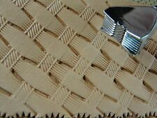 Leather Stamping Tool - X514S Rope Basket Weave Stamp