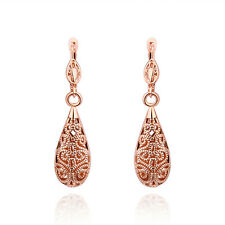 Women Dangle Earrings 24K Rose Gold Plated Fashion Jewelry LF