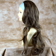 Blonde Brown 3/4 Fall Hair Piece Long Straight Wavy Lady Half Wig from WIWIGS UK